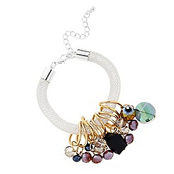 The Collection - Beaded charm drop mesh bracelet