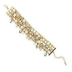 The Collection - Gold and green bead shaker bracelet