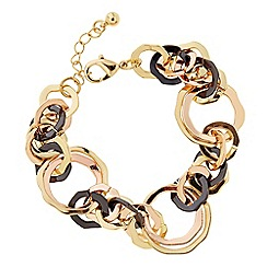 The Collection - Black and gold link bracelet