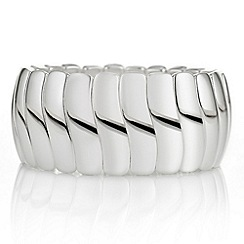 The Collection - Silver wave link stretch bracelet