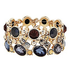 The Collection - Mixed crystal gold bracelet