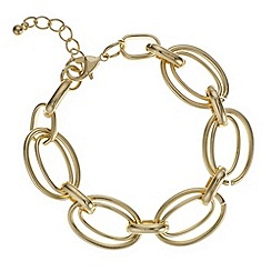 The Collection - Gold double link chain bracelet