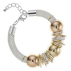 The Collection - Multi tone circle link mesh bracelet
