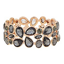 The Collection - Grey crystal rose gold bracelet