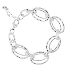 The Collection - Silver double ring link bracelet