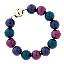The Collection - Multicolour pearl magnetic bracelet