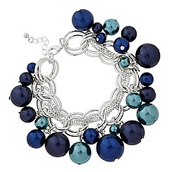 The Collection - Blue and teal pearl shaker bracelet