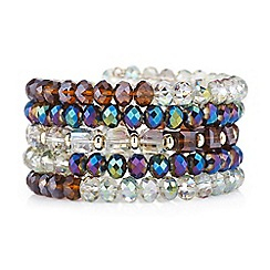 The Collection - Multi coloured coil beaded bracelet