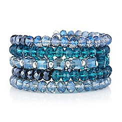 The Collection - Blue beaded coil bracelet