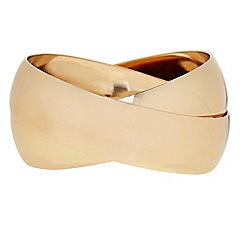 The Collection - Gold chunky linked bangle set