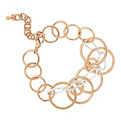 The Collection - Two tone multi circle link bracelet