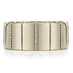 The Collection - Gold crystal segment bracelet