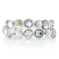 The Collection - Silver geometric multi circles multi row bracelet