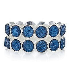 The Collection - Teal crystal druzy double row bracelet