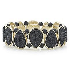 The Collection - Black druzy crystal bracelet