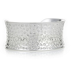 The Collection - Silver textured cuff bracelet