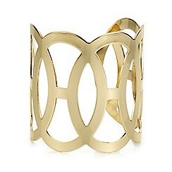 The Collection - Gold oval link cuff bracelet