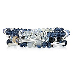 The Collection - Blue crystal beaded bracelet set