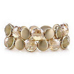 The Collection - Gold crystal beaded multi row bracelet