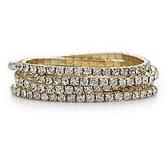 The Collection - Gold diamante bracelet set