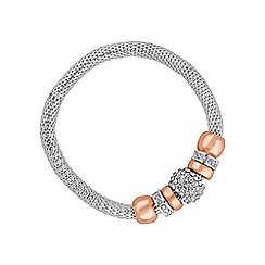 The Collection - Silver pave crystal charm bracelet