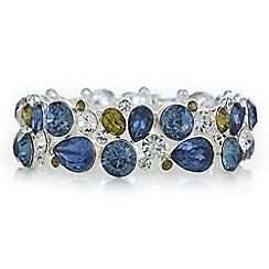 The Collection - Blue crystal cluster bracelet