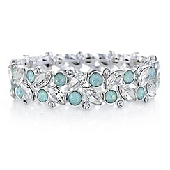 The Collection - Green crystal cluster bracelet
