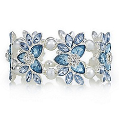 The Collection - Blue crystal flower bracelet