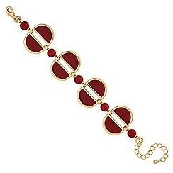 The Collection - Red multi shape statement bracelet