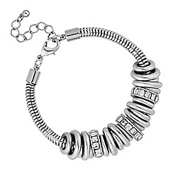 The Collection - Silver crystal ring bracelet