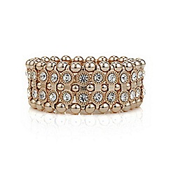 The Collection - Rose gold crystal and bead bracelet