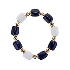 The Collection - Black and white barrel charm bracelet