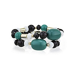 The Collection - Green bead bracelet set