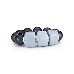 The Collection - Blue chunky bead bracelet