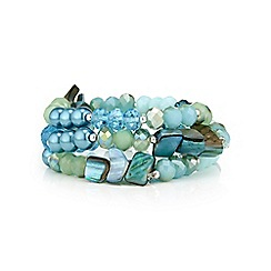 The Collection - Bead and shell bracelet set