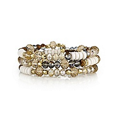 The Collection - Amber tonal crystal coil bracelet