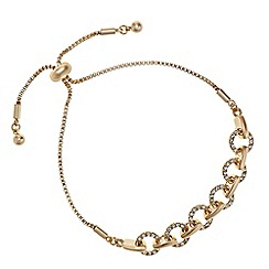 The Collection - Rose gold pave link toggle bracelet