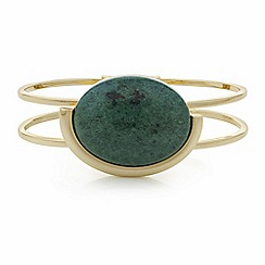 The Collection - Green stone bangle