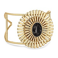 The Collection - Gold crystal art deco cuff