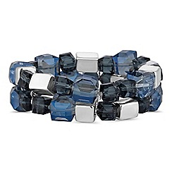 The Collection - Blue cube bead bracelet