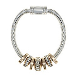 The Collection - Multi tone crystal charm bracelet