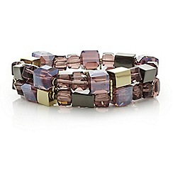 The Collection - Beaded cube multi row bracelet