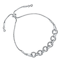The Collection - Silver pave link toggle bracelet