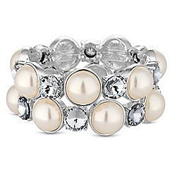 The Collection - Pearl and crystal bracelet set