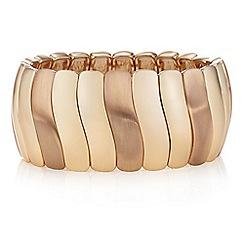 The Collection - Rose gold wave link bracelet
