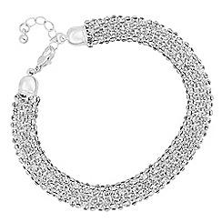 The Collection - Crystal embellished mesh bracelet