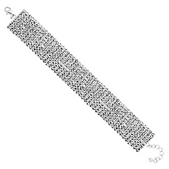 The Collection - Crystal diamante statement bracelet