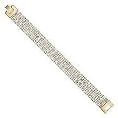 The Collection - Diamante crystal multi row bracelet