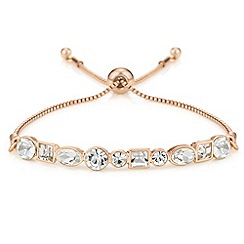 The Collection - Multi shape crystal toggle bracelet