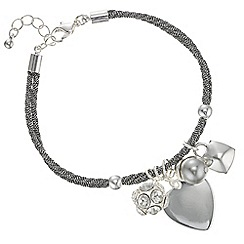 The Collection - Corded crystal charm bracelet